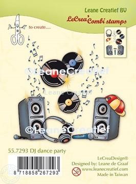 Bild von LeCreaDesign® Kombi Silikon Stempel Diskjockey Tanz Party