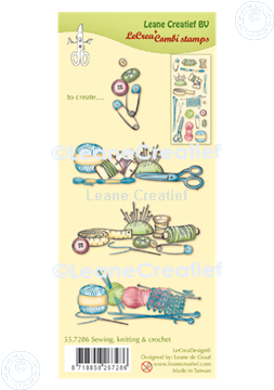 Picture of LeCreaDesign® combi clear stamp Sewing, knitting & crochet