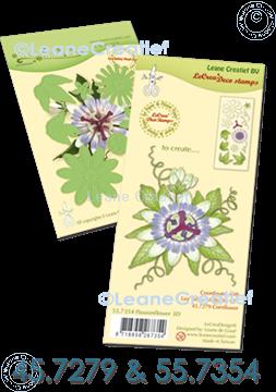 Afbeeldingen van Set Multi die & Clear stamp Passion flower  3D