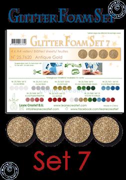 Image de Glitter Foam set 7, 4 feuilles A4 Or antique