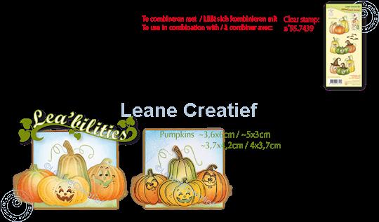 Afbeelding van Lea'bilitie® Pompoenen snij en embossing mal