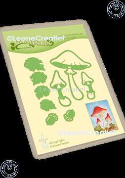 Afbeeldingen van Lea'bilitie® Herfst - Paddenstoelen snij en embossing mal