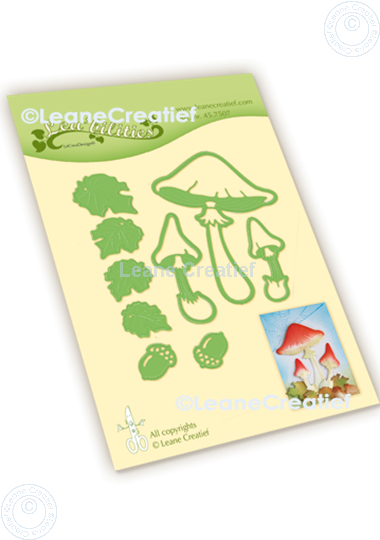 Picture of Lea'bilitie® Autumn - Mushrooms cut and embossing die