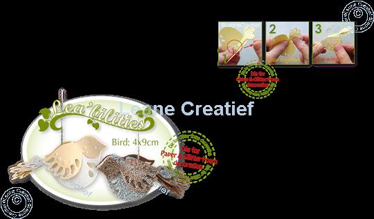Picture of Lea'bilitie® Bird 3D cut and embossing die