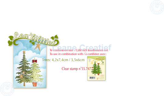 Picture of Lea'bilitie® Christmas trees cut and embossing die