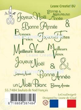 Bild von LeCreaDesign® Silikon Stempel Französische Texte Weihnachten