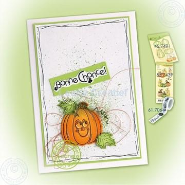 Image de Pumpkin on splatter background